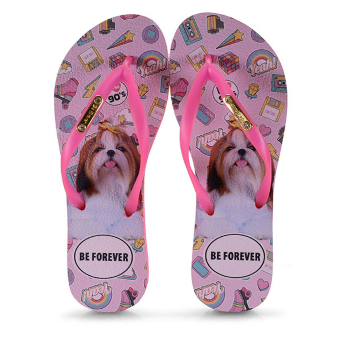 Chinelo Feminino Rafitthy 110.01702 Shitzu 90s Pink