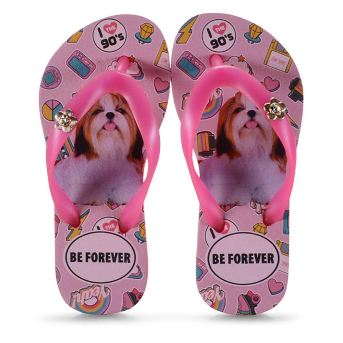 Chinelo Fem Infantil Rafitthy 118.01701 Shitzu 90s Pink