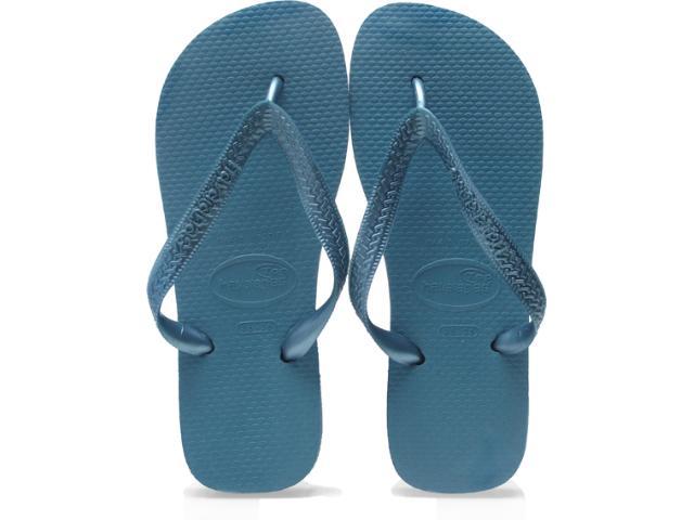 Chinelo Feminino Havaianas Top Metallic Azul Acinzentado
