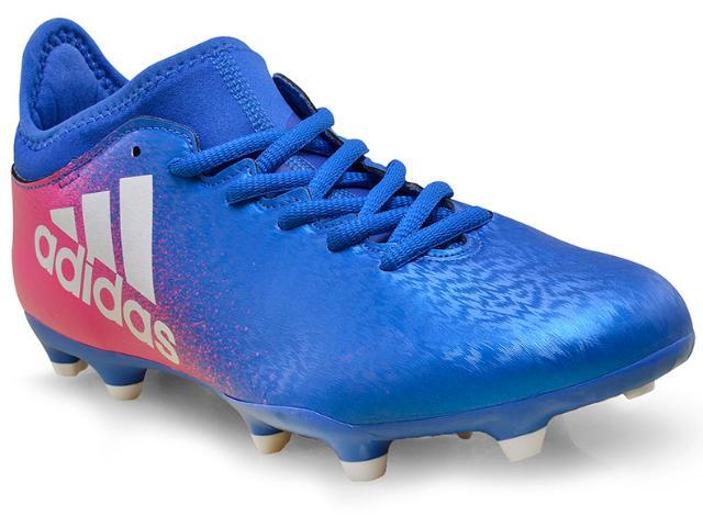 Chuteira Masculina Adidas Bb5641 x 16 3 fg Azul/pink