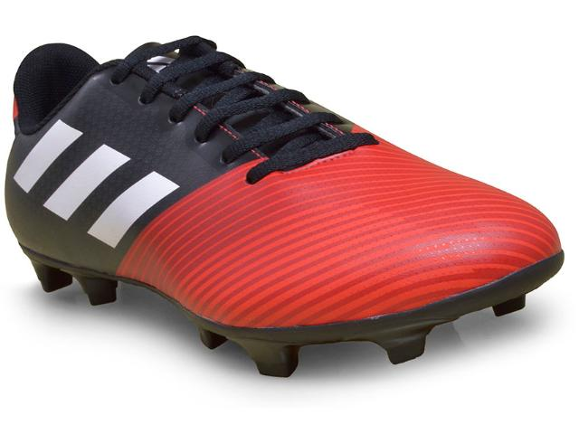 Chuteira Masculina Adidas H68449 Artilheira ii fg Preto/vermelho