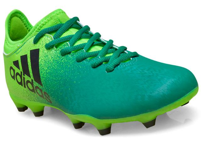 Chuteira Masculina Adidas Bb5855 x 16 3 fg Verde