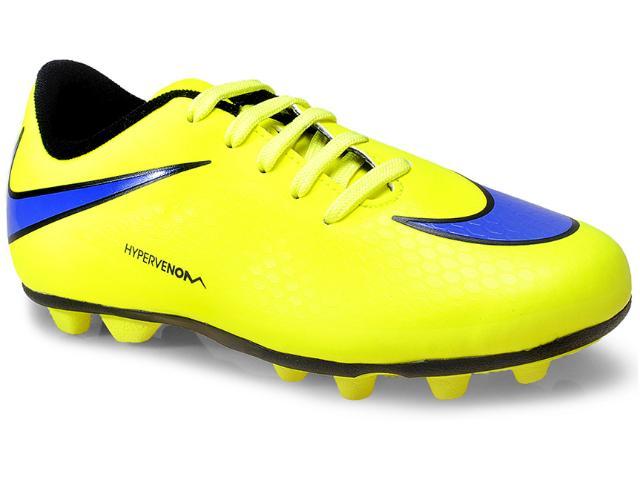 Chuteira Masc Infantil Nike 599073-758 jr Hypervenom Phade Fg-r  Amarelo Limão/roxo