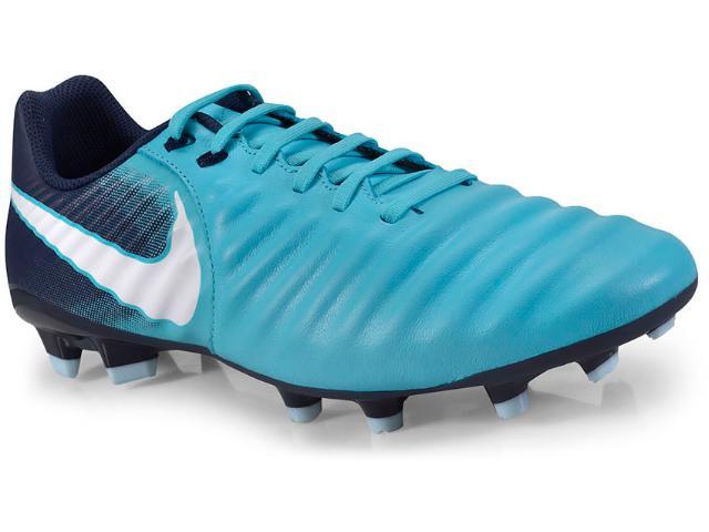 Chuteira Masculina Nike 897744-414  Tiempo Ligera iv fg Azul/marinho/bco