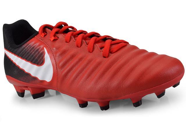 Chuteira Masculina Nike 897744-616 Tiempo Ligera iv fg Vermelho/preto/branco