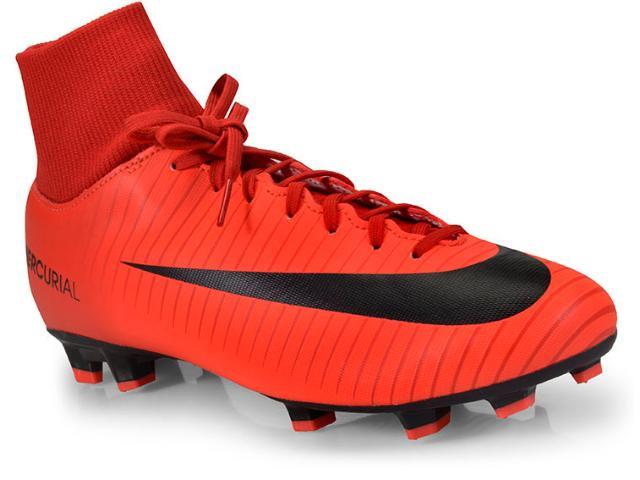 Chuteira Masculina Nike 903609-616 Mercurial Victory vi df fg Vermelho