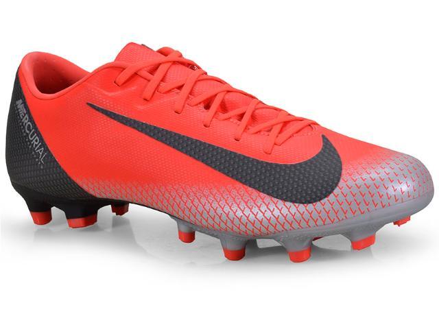 Chuteira Masculina Nike Aj3721-600 Vapor 12 Academy Vermelho/prata/preto
