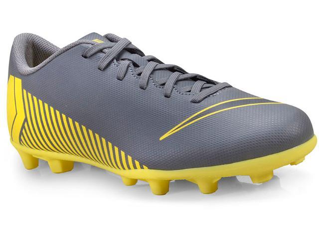 Chuteira Masculina Nike Ah7378-070 Mercurial Vapor 12 Club Grafite/amarelo