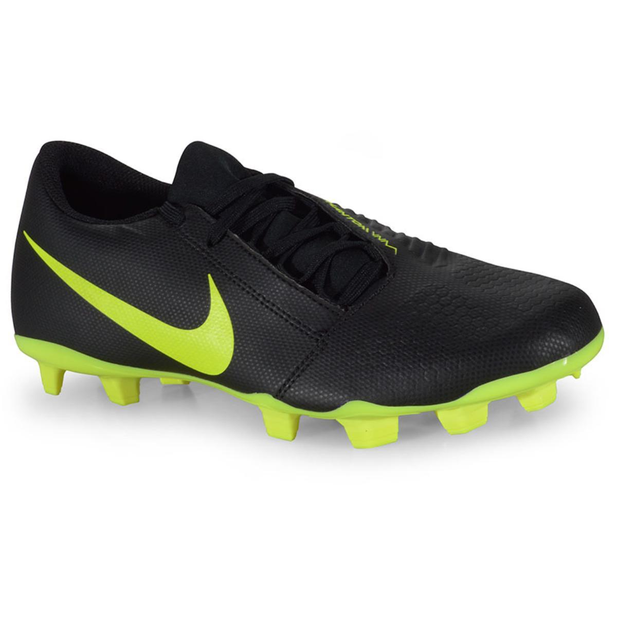 Chuteira Masculina Nike Ao0577-007 Phantom Venom Club Club Preto/limão