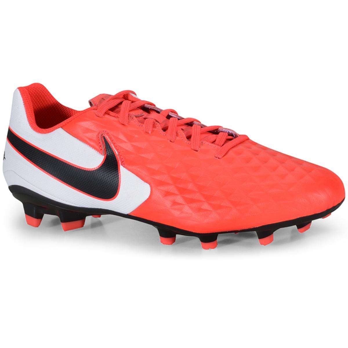 Chuteira Masculina Nike At5292-606 Tiempo Legend 8 Academy Coral/branco/preto