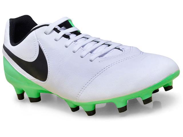 Chuteira Masculina Nike 819213-103 Tiempo Genio Leather ii Branco/verde/preto