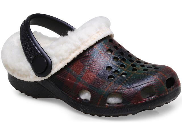 Crocs Fem Infantil Soft Mania Bb12 Preto