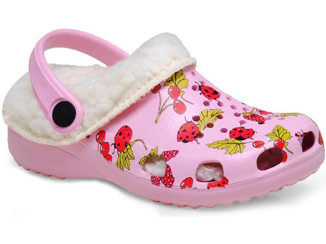 Crocs Fem Infantil Soft Mania Bb12 Rosa