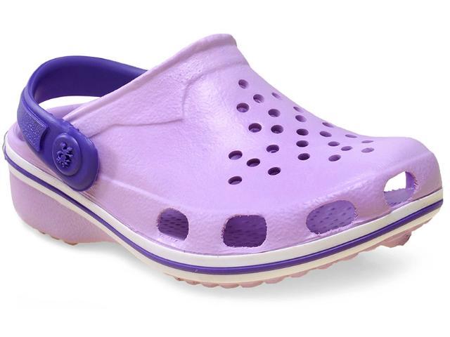 Crocs Fem Infantil Soft Mania Bb19 Ameixa/roxo