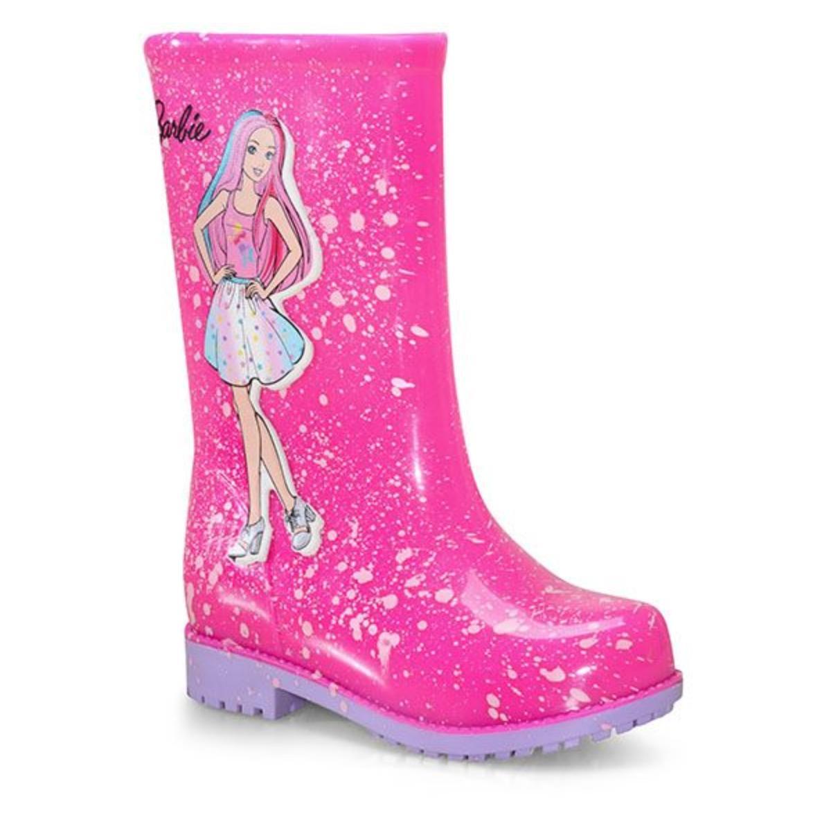 Galocha Fem Infantil Grendene 22560 50511 Barbie Fashion Rosa/lilas