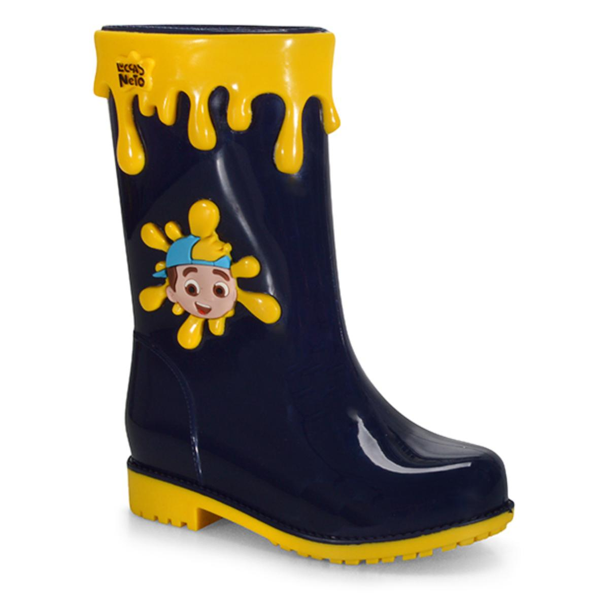 Galocha Masc Infantil Grendene 22291 50877 Luccas Neto Adventure Azul/amarelo