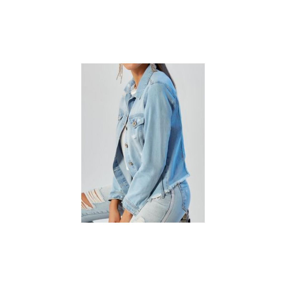 Jaqueta Feminina Carmenta 081275 Jeans