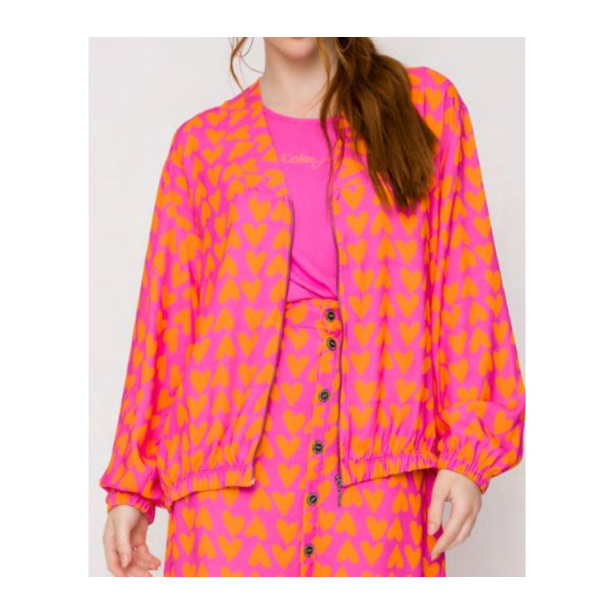 Jaqueta Feminina Coca-cola Clothing 323200641 Vb101 Pink/laranja