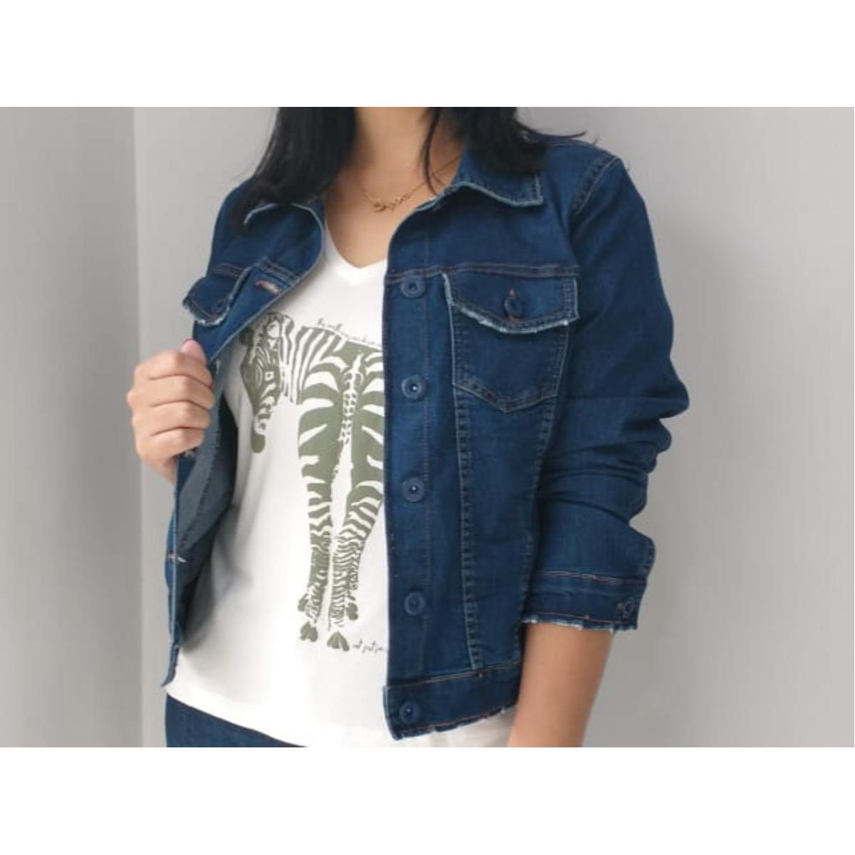 Jaqueta Feminina Lunender 67860 Jeans
