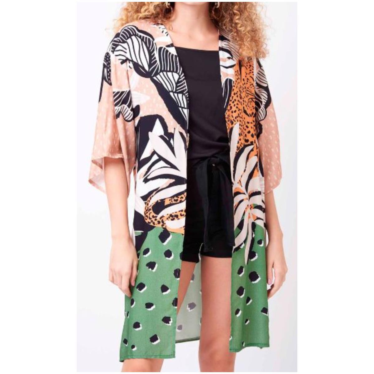 Kimono Feminino Mercatto 2836664  050 Estampado