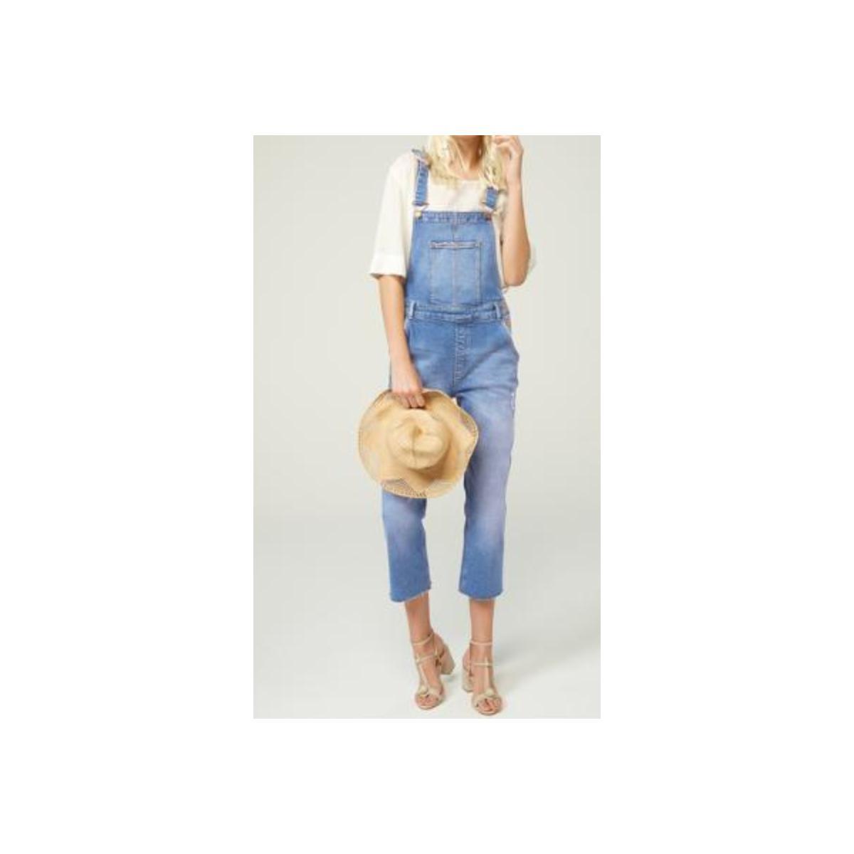 Macacão Feminino Dzarm Zmt6 501zsn Jeans