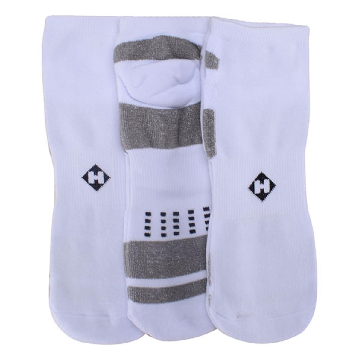 Meia Masculina Hoahi Hmc18006b Kit C/3 Branco/cinza