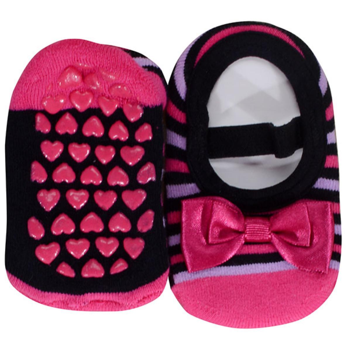 Meia Sapatilha Fem Infantil Lupo 2006 017 9990 Pink/preto