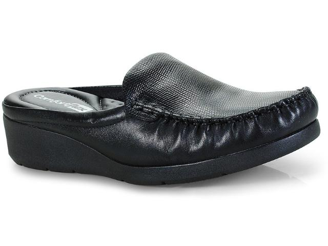 Mule Feminino Comfortflex 18-93301 Preto