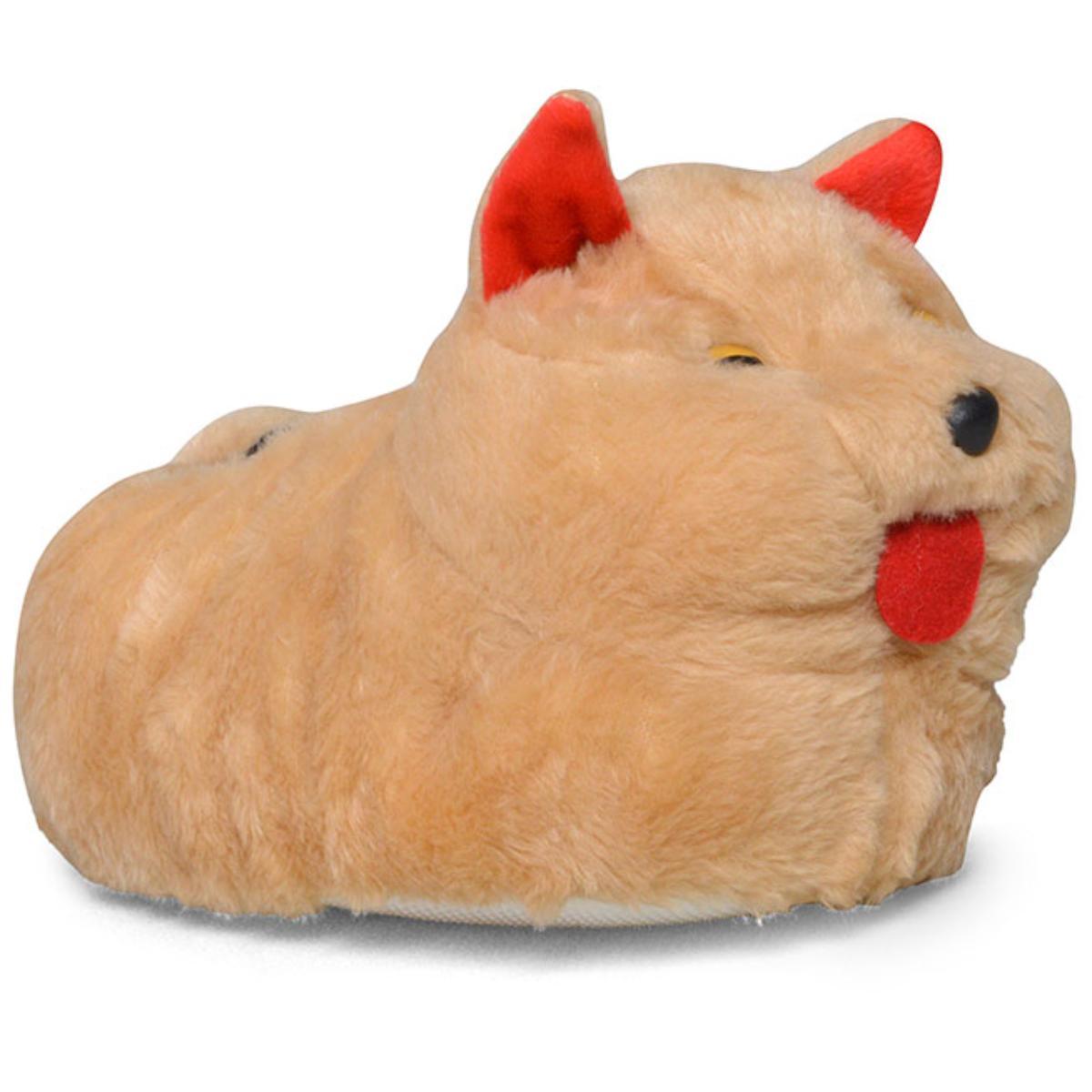 Pantufa Feminina du Rei Gato Bege Escuro