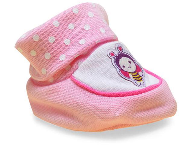 Pantufa Fem Infantil Pimpolho 7650 Abelha Rosa