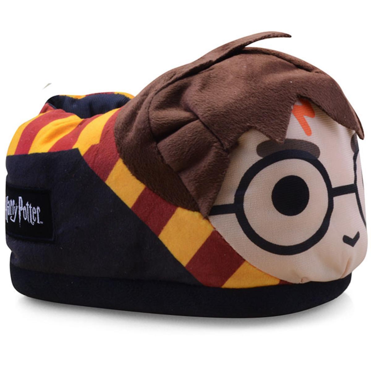 Pantufa Masc Infantil Ricsen 119120 Harry Potter 3d Preto/amarelo/marrom