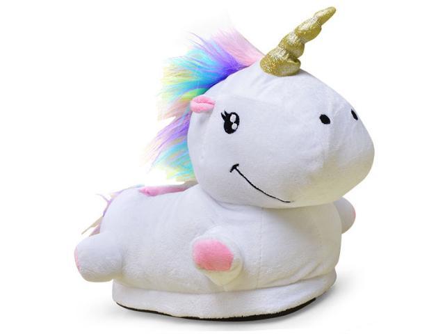 Pantufa Feminina Ricsen 13817 Unicornio Branco Color