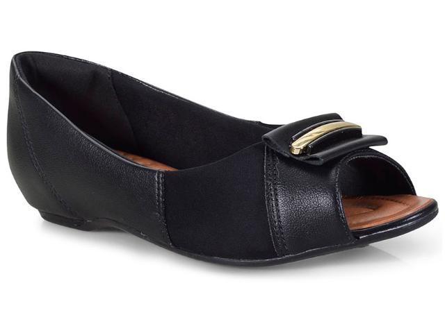 Peep Toe Feminino Comfortflex 18-76305 Preto