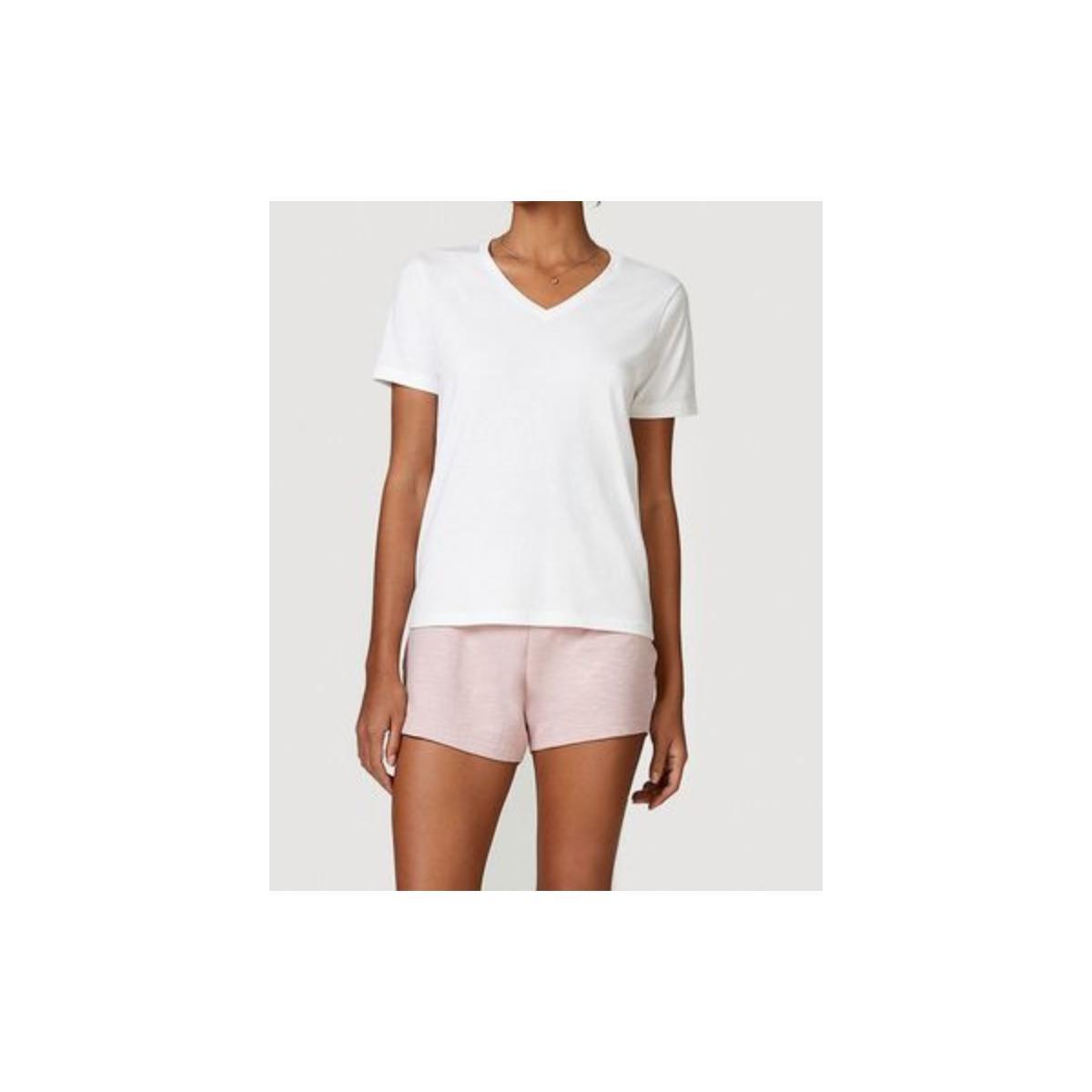 Pijama Feminina Hering 7bwv 1ben Off White/rosa