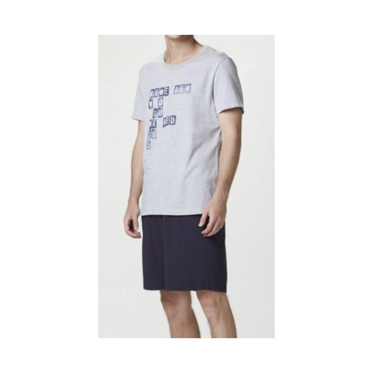 Pijama Masculina Hering 7bzk 1den Mescla/marinho