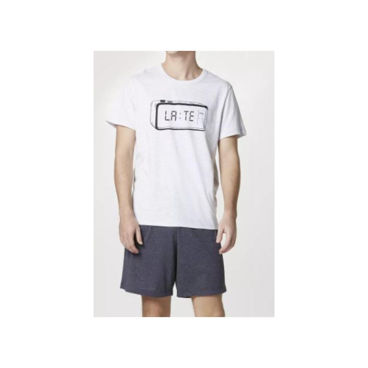 Pijama Masculina Hering 7bzk Md6en Branco