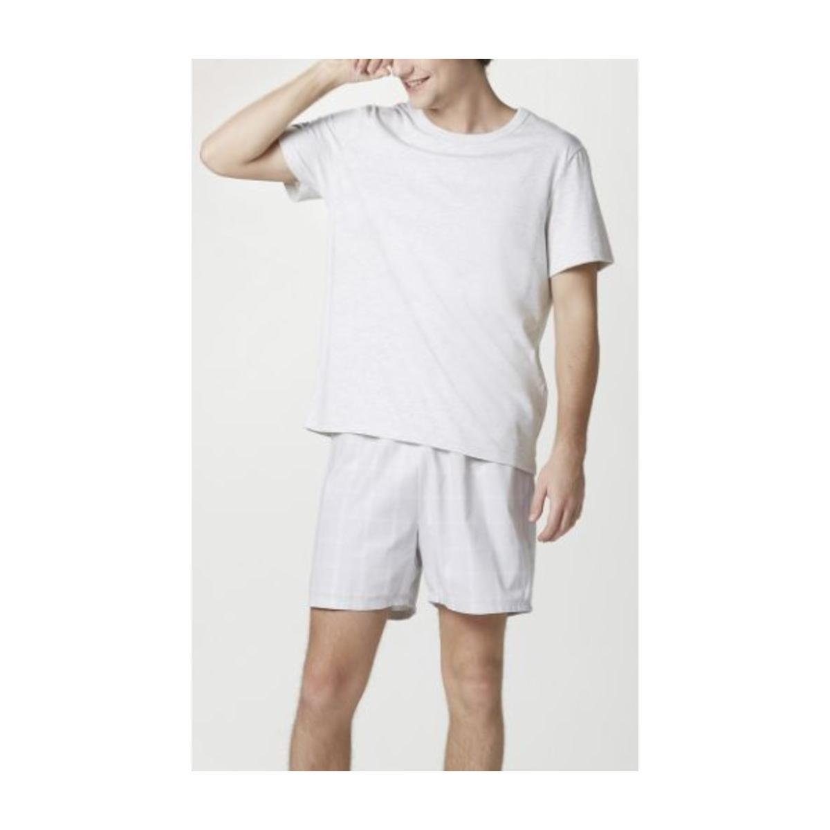 Pijama Masculina Hering Q8au 1cen Mescla/cinza Xadrez