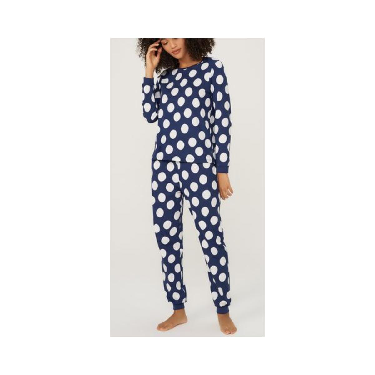 Pijama Feminina Hering 7cfy 1aen Marinho Poa