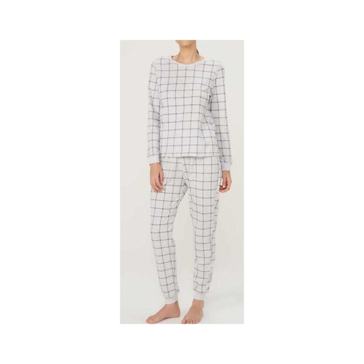 Pijama Feminina Hering 7cfy 1ben Cinza