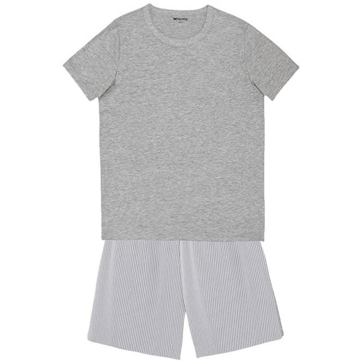 Pijama Masculina Hering Q8au Se01en Cinza