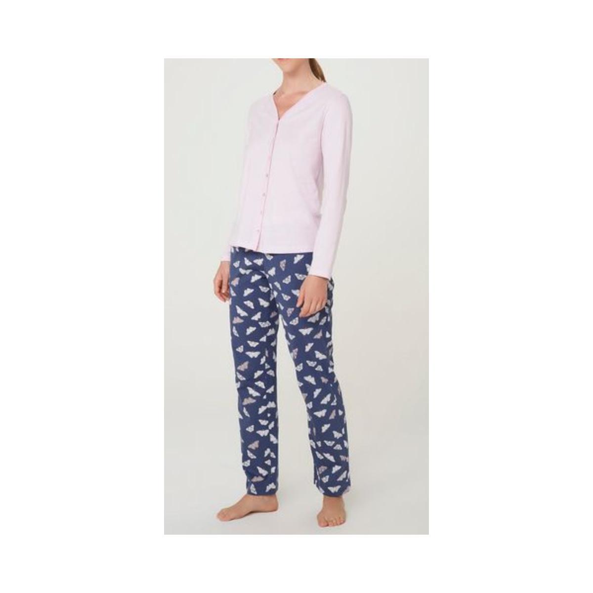 Pijama Feminina Hering 7cb7 Xlien Marinho/rosa