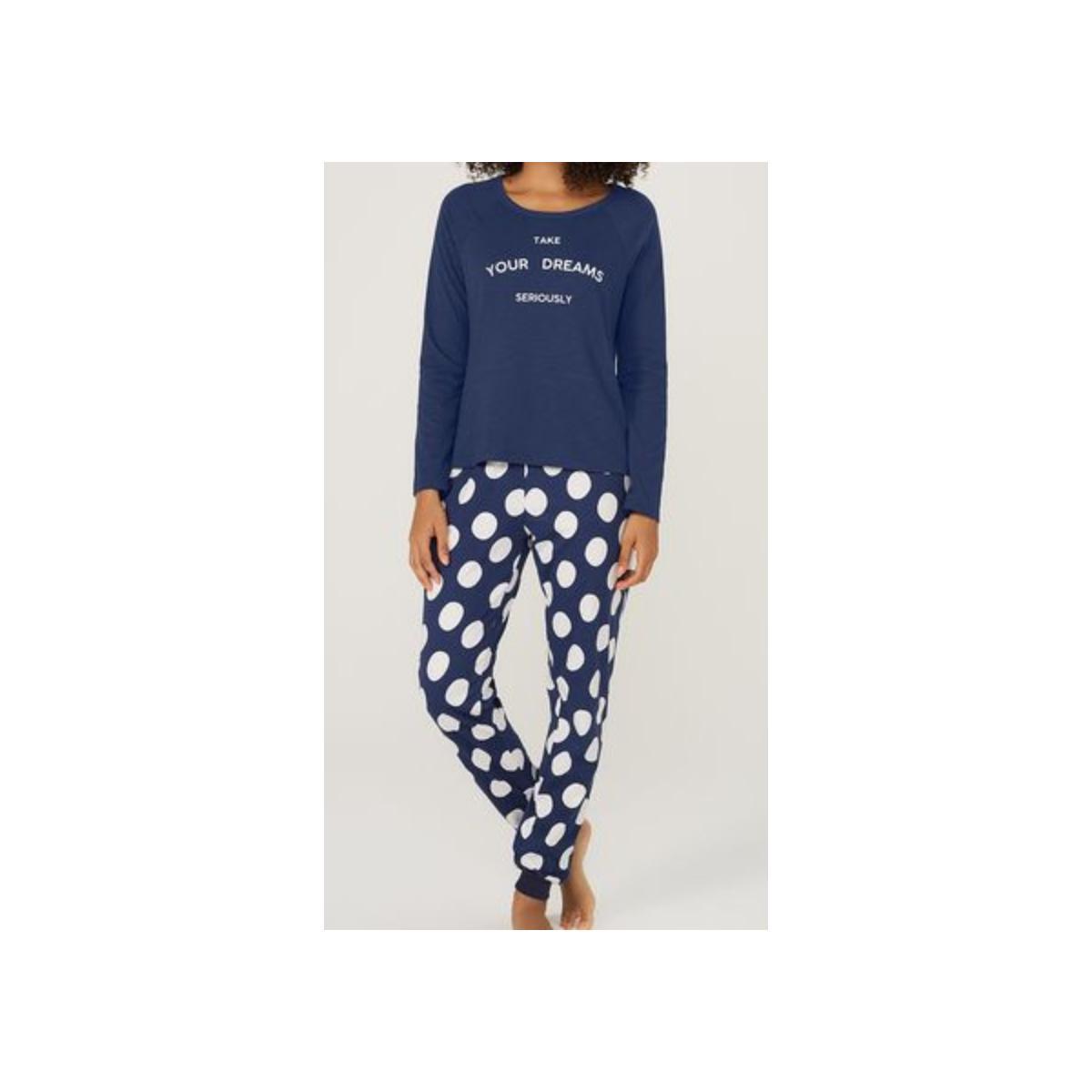 Pijama Feminina Hering 7byn 1den Marinho/branco