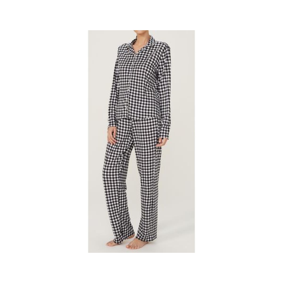 Pijama Feminina Hering 7cek 1den Preto/branco