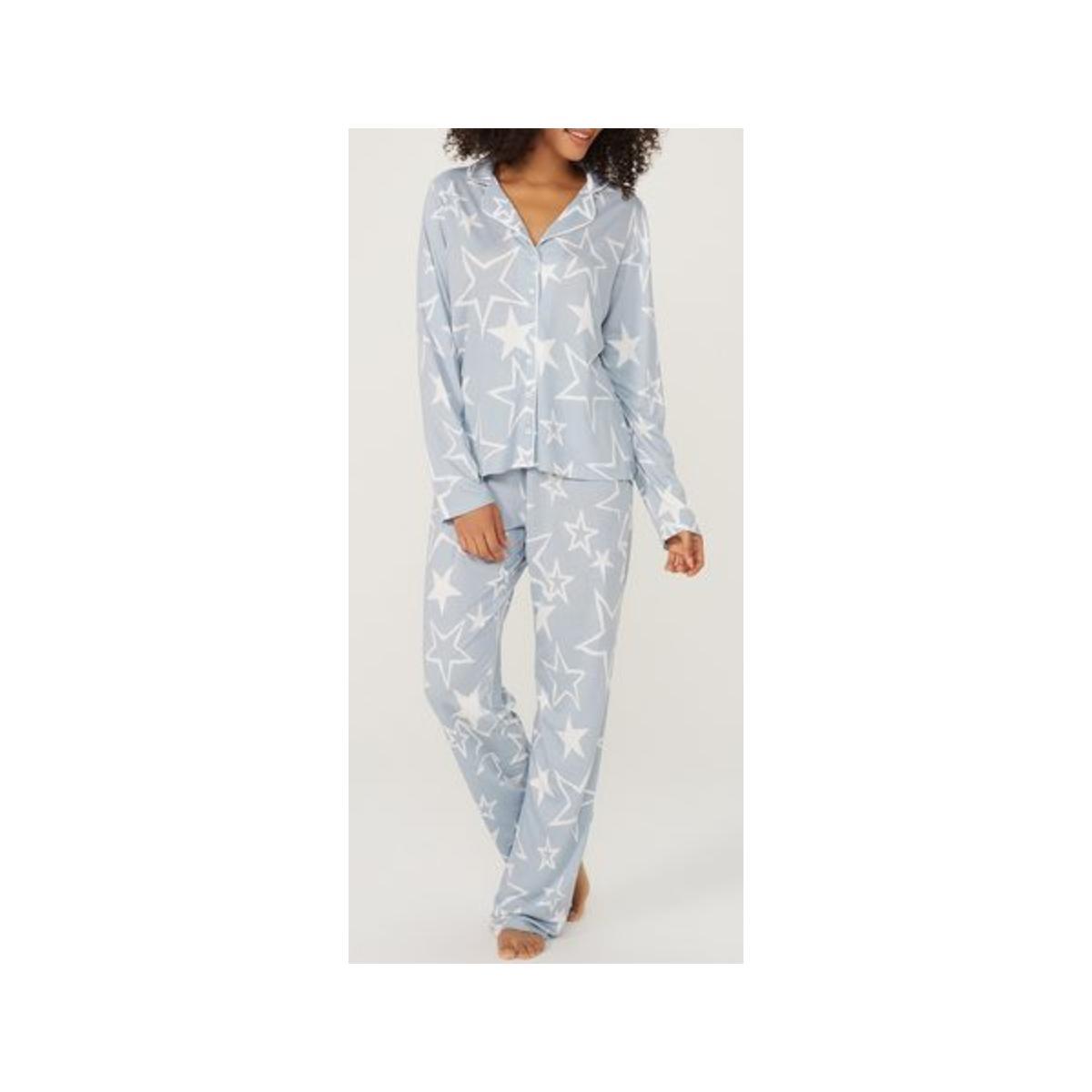 Pijama Feminina Hering 7cek 1fen Azul/branco