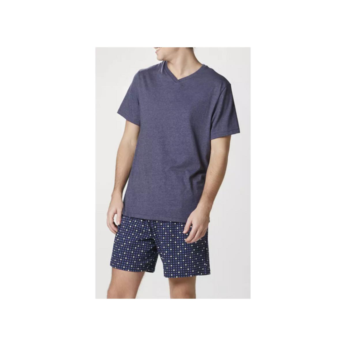 Pijama Masculina Hering 76wx Mf3en  Marinho Estampado