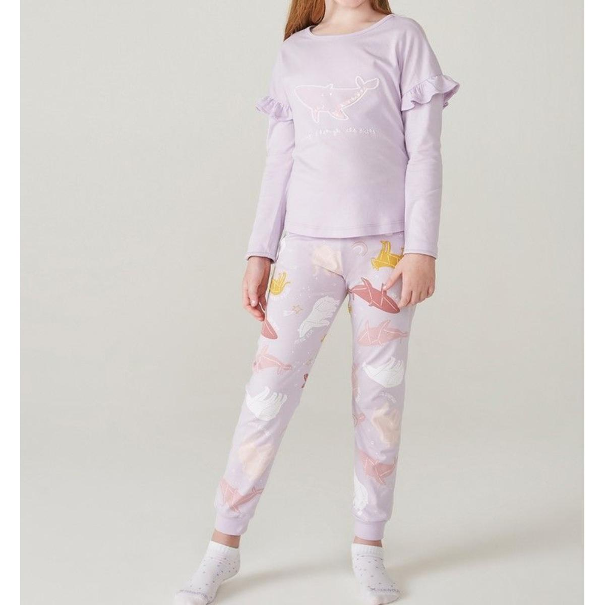 Pijama Feminina Hering Kids 565f 1cen Lilas