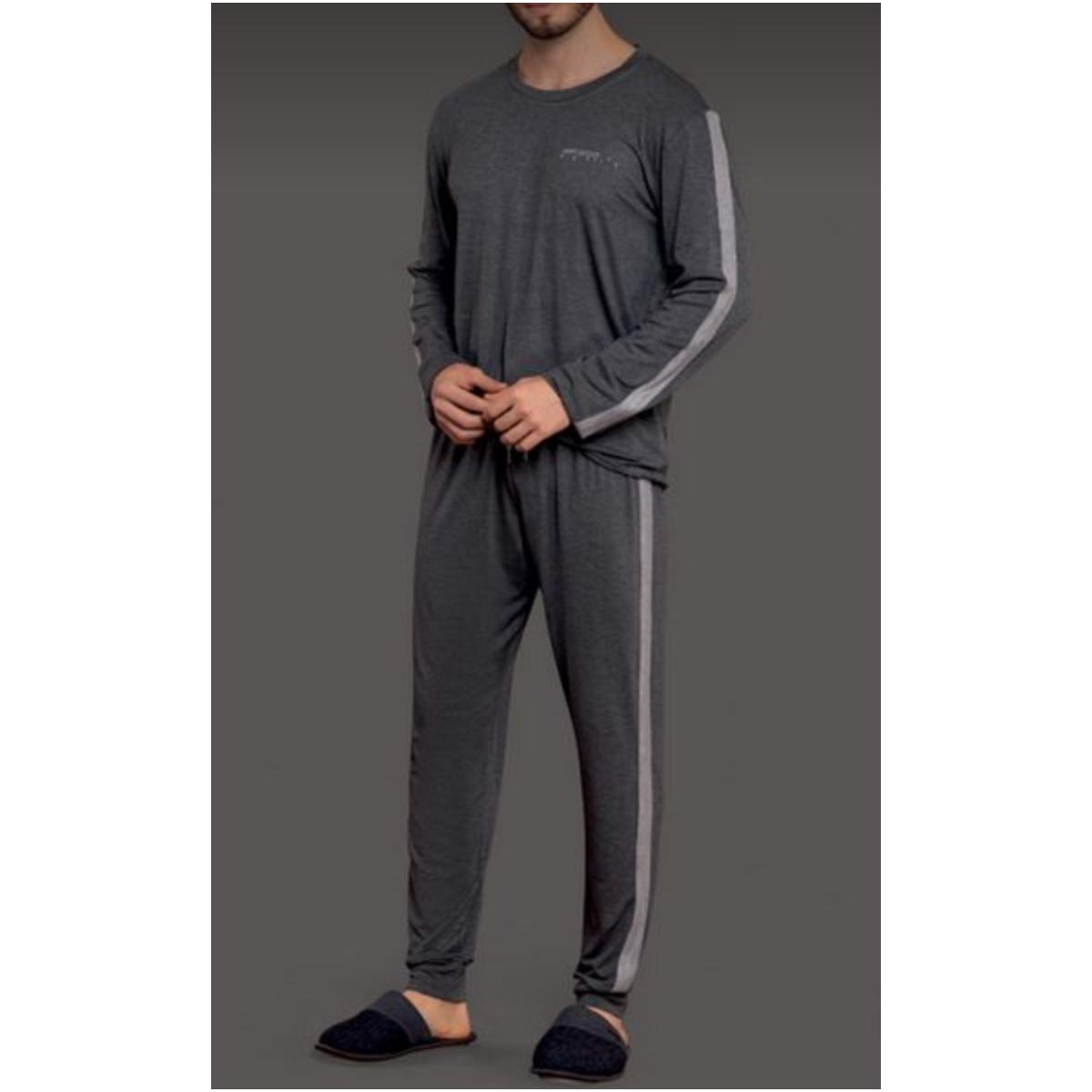 Pijama Masculina Lua Lua 870175 Grafite