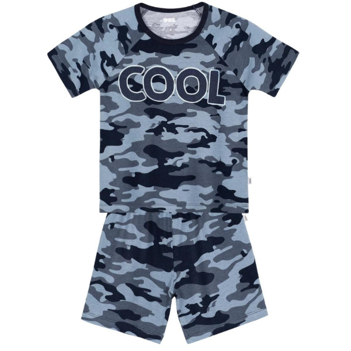 Pijama Masc Infantil Puc 26r9 1cen Azul Camuflado