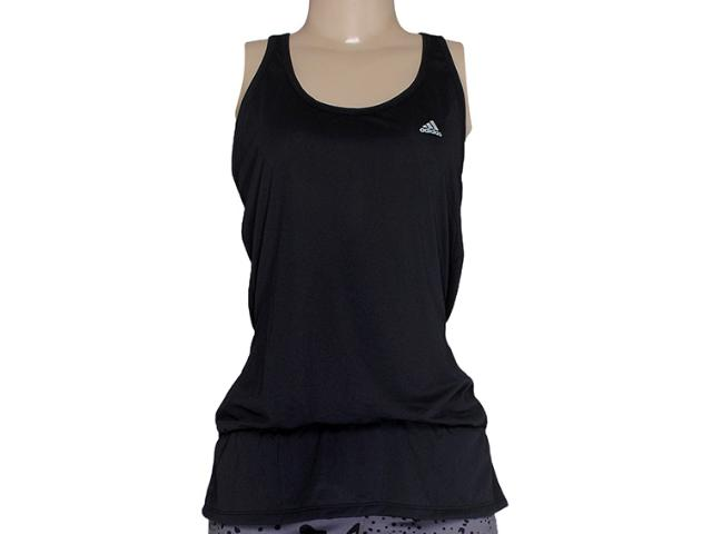 Regata Feminina Adidas M33729 Long lw Crush Preto