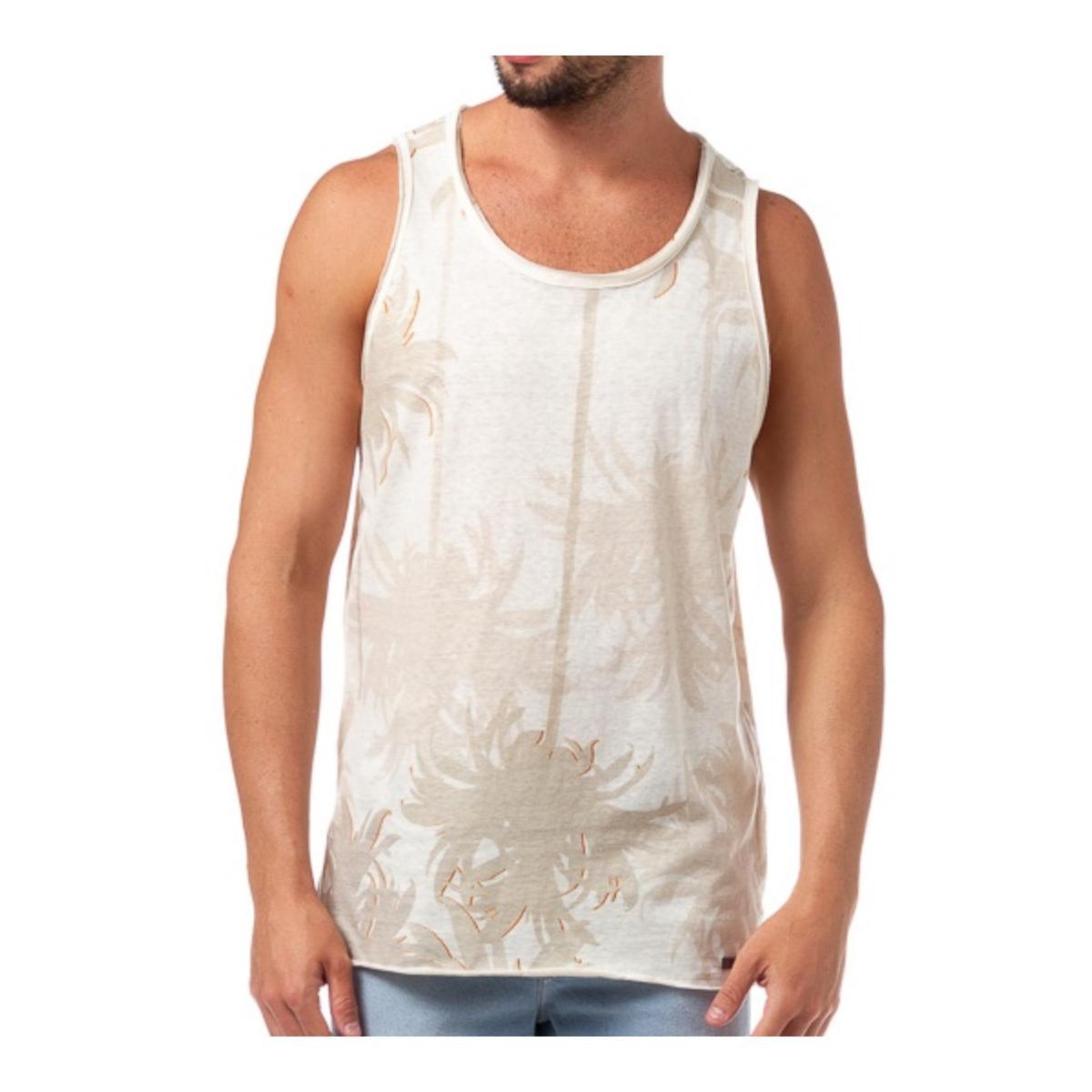 Regata Masculina Coca-cola Clothing 393200789 Off White/bege Estampado